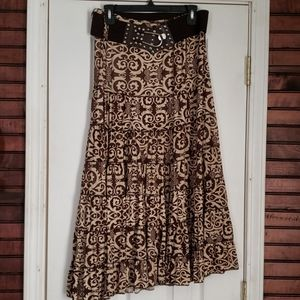 Metro Wear Boho skirt with belt